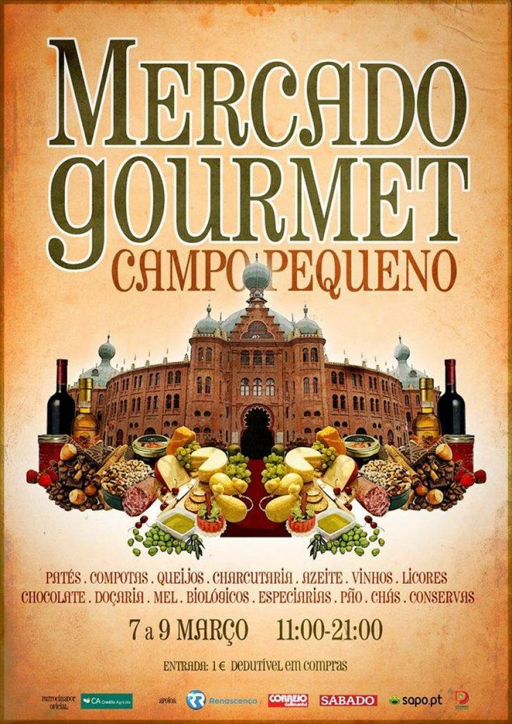 Apaixonado por produtos #gourmet?  No próximo mês, o #CampoPequeno tem a solução!
