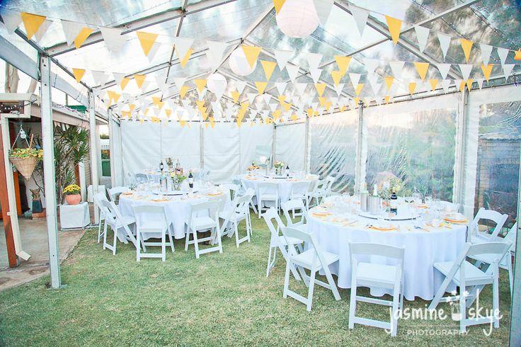 marquee backyard wedding. wedding photographer perth