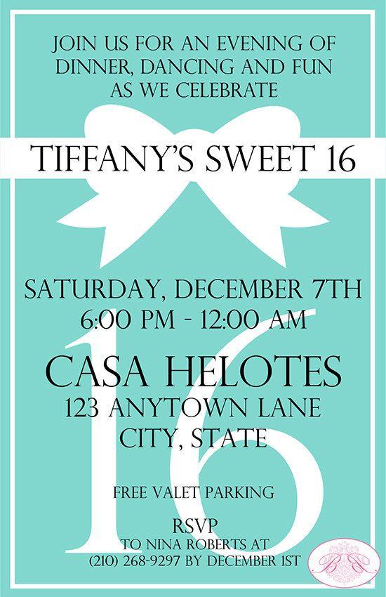 664 best Sweet 16 images – Tiffany Blue Birthday Invitations