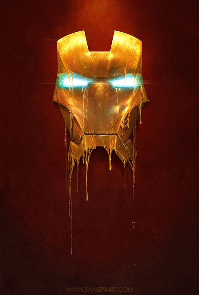 Marvel Comics Gilded Iron Man Illustrations by Sam Spratt