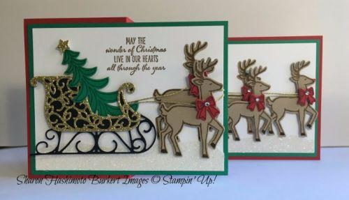 Santa's Sleigh bundle, www.sharonburkert.com, #stampinup