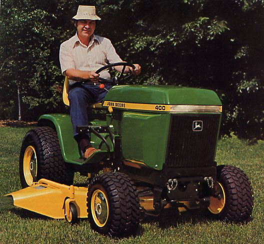 Fire Up Your John Deere 400 Lawn Tractor to Get Ready for Spring http://blog.machinefinder.com/12245/fire-up-your-john-deere-400-lawn-tractor-to-get-ready-for-spring