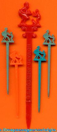 Swizzle sticks from Howard Johnson's restaurants...