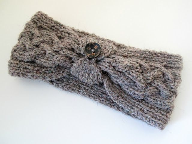 Knitted - Cable knit headband - Free pattern - Printed