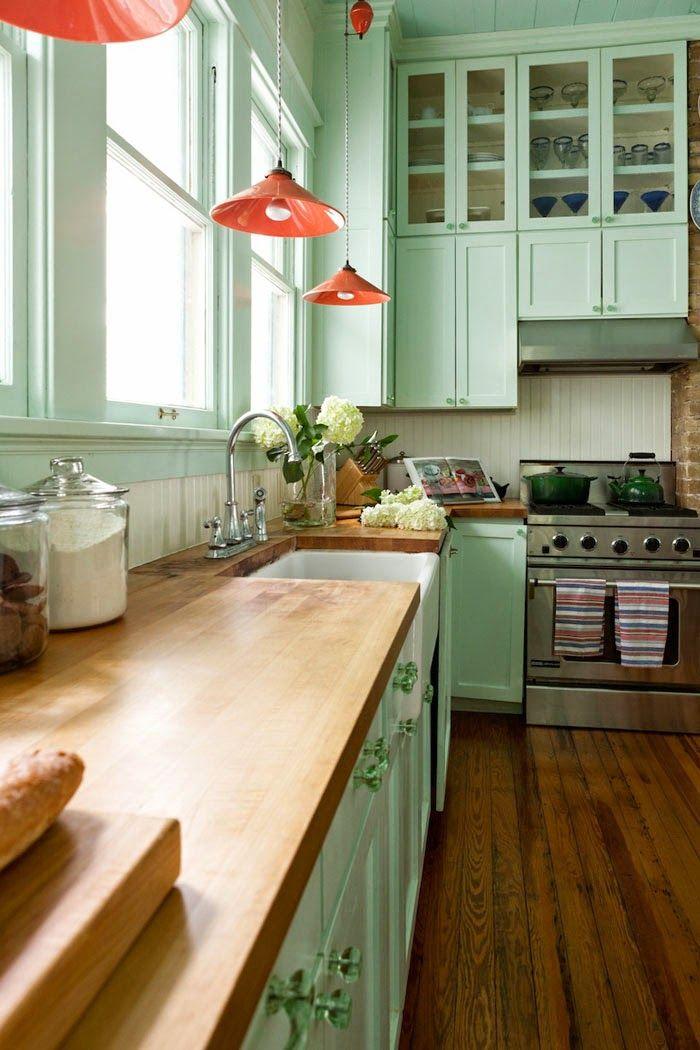 Sweet home: Нежная мятная кухня