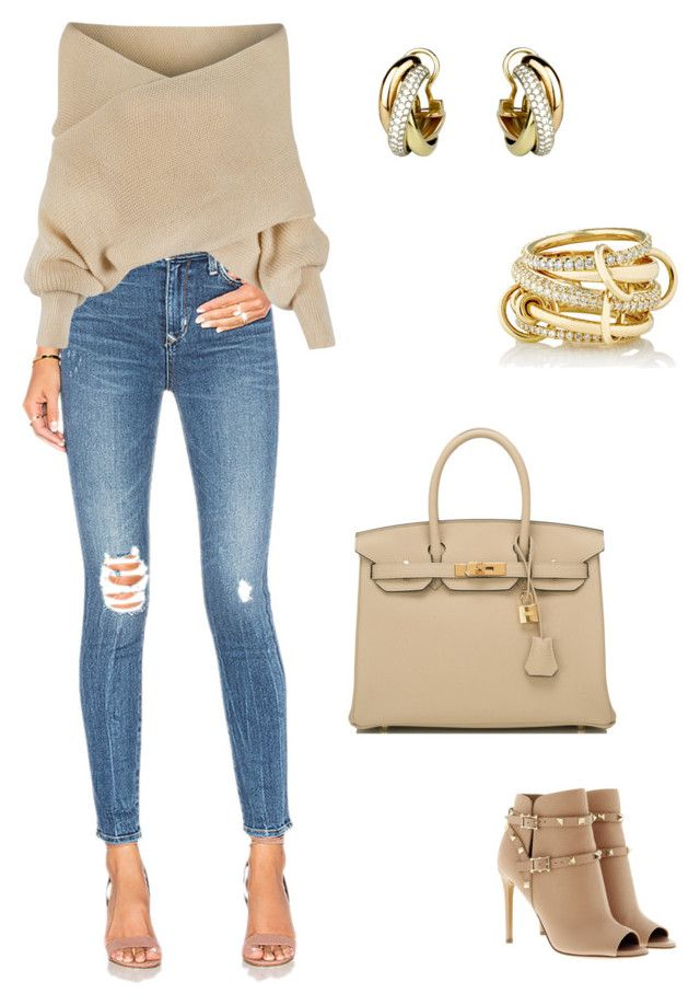 """""""Invpra"""" by pasha21 on Polyvore featuring Hermès, Lovers + Friends, WithChic, SPINELLI KILCOLLIN, Cartier and Valentino"""