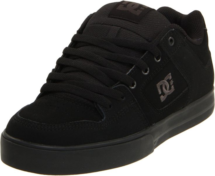 DC Men's Pure Skate Shoe, Black/Pirate Black, 11 M US: Foam padded tongue  and collar for comfort and support Wrap cup construction…