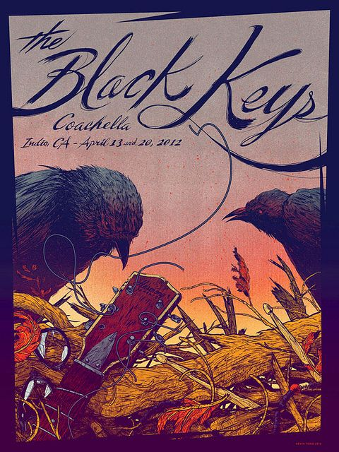 Black Keys Coachella Poster by Kevin Tong Illustration, via Flickr
