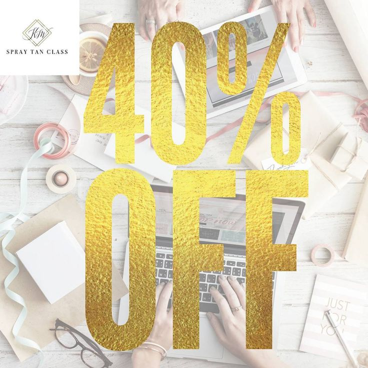 "#blackfriday has come early this year ✨ this will be our last special of the year  40% off all online spray tan trainings (beginners, competition tanning, contour tanning), ebooks + mini courses! use ""lastchance40"" at checkout today! offer ends soon! . #airbrushtanning #spraytantraining #spraytanclass #learntospraytan #mua #esthetician #spraytanartist #bossbabe #beautyindustry #lashartist #salonowner #spraytan #business #womeninbusiness #airbrushtan #esthetician #aesthetician #slay"