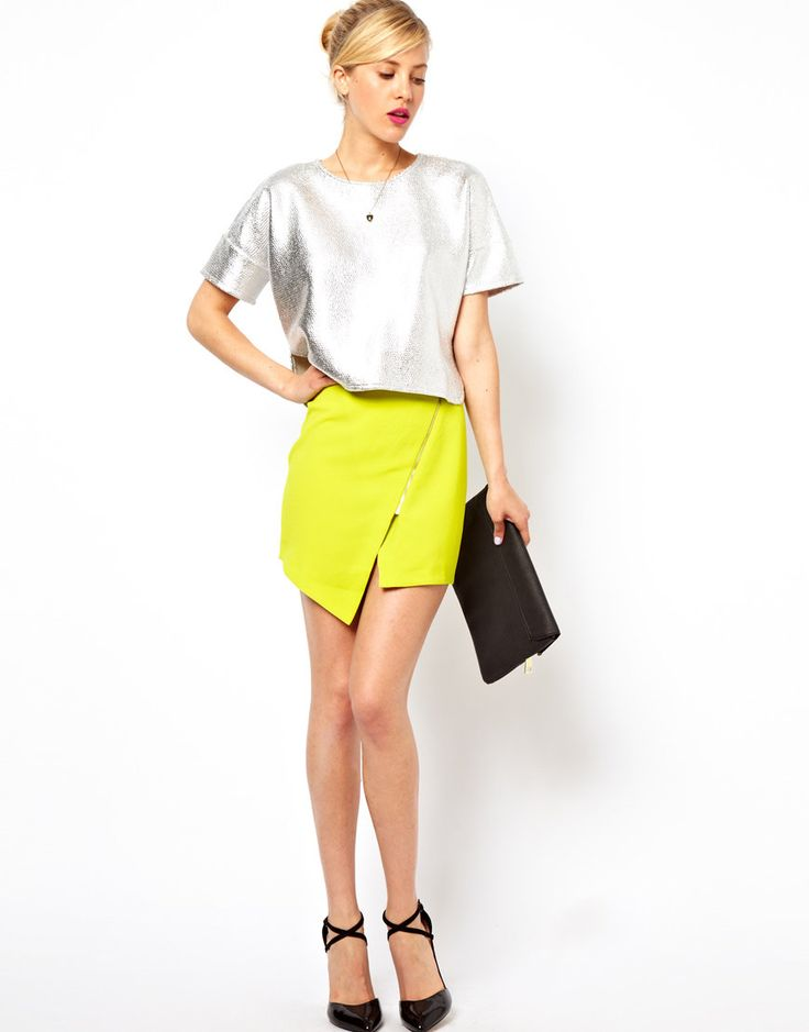 #asos                     #Skirt                    #ASOS #Wrap #Skirt #Crepe #with                     ASOS Wrap Skirt in Crepe with Zip                                             http://www.seapai.com/product.aspx?PID=1358097