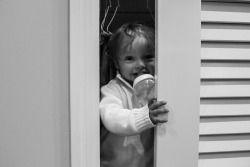 Brooke Wedlock Photography - Funny Boy #babyportraits #babyboy #portrait #familyphotographer #torontophotographer #happybaby #hideandseek #blackandwhite #toddler #lifestyle