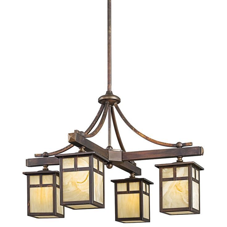 Kichler lighting 4 light alameda indoor chandelier canyon view at atg stores