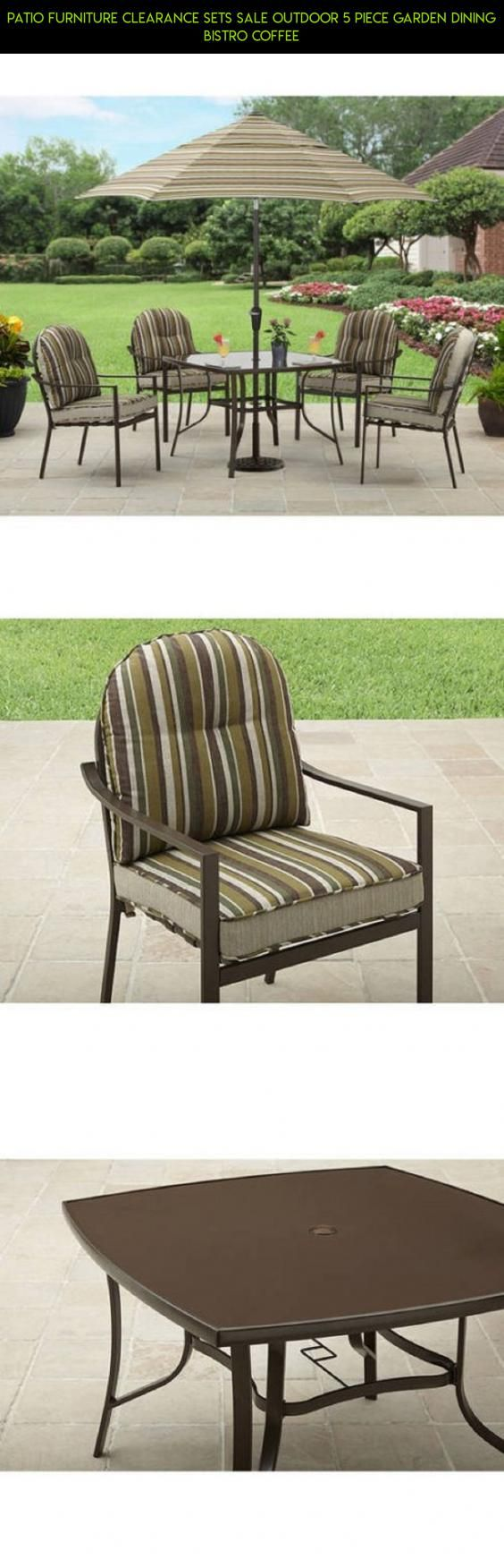 Patio Furniture Clearance Sets Sale Outdoor 5 Piece Garden Dining Bistro  Coffee #clearance #furniture