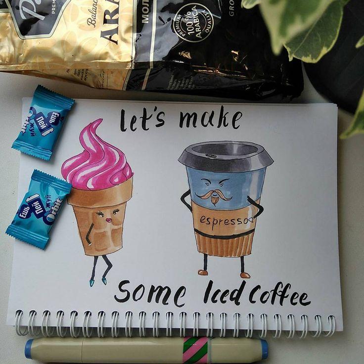 iced coffe. Espresso & ice cream - one love ^)