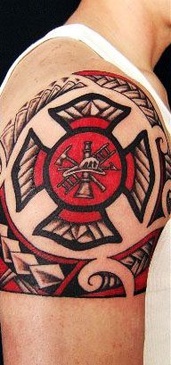 maori tribal maltese tattoo shoulder shared by lion fire department tattoo inspiration. Black Bedroom Furniture Sets. Home Design Ideas