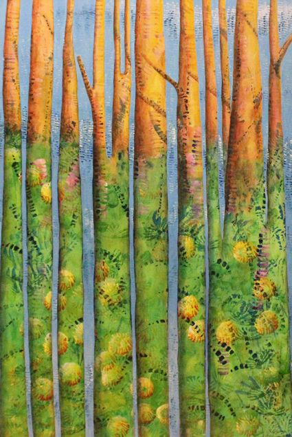 Tree Lake Acrylic.  Shirley Dougan