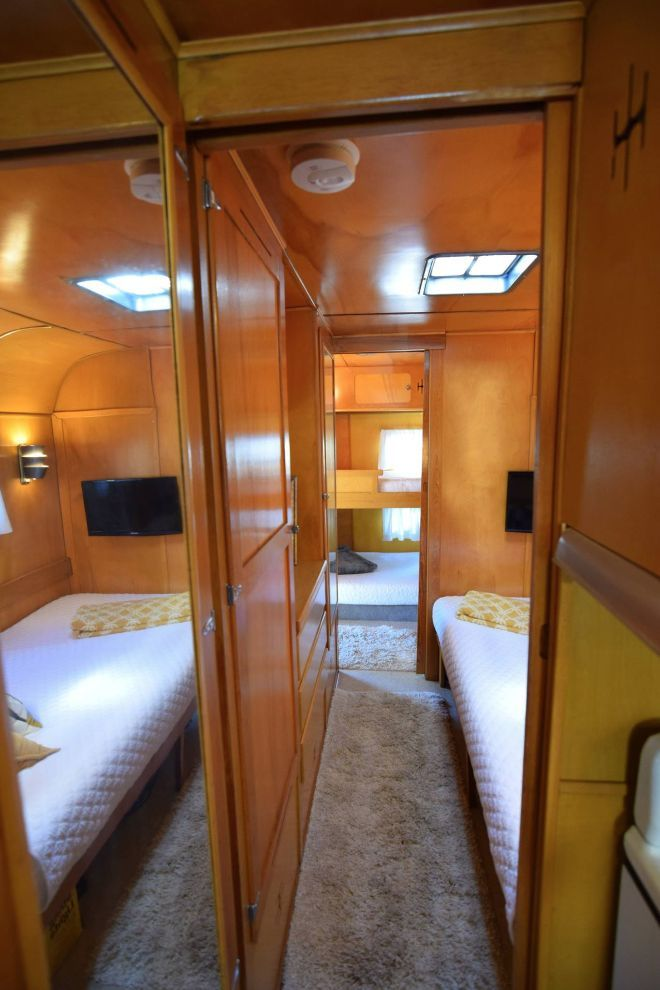 Interior of this fully restored 1950s Glider puts modern campers to shame