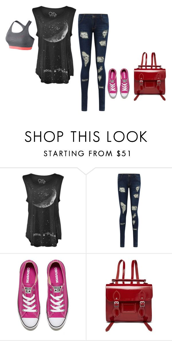 """""""Untitled #1765"""" by sammy-92 ❤ liked on Polyvore featuring Converse, The Cambridge Satchel Company and NIKE"""