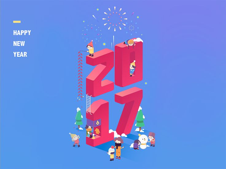 happy new year by IanSui #Design Popular #Dribbble #shots
