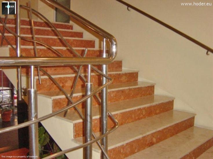 Realizacja schody marmurowe Hoder #kamień #schody #granit #marmur #wnętrza #interior #design #office #hallway #marble #granite