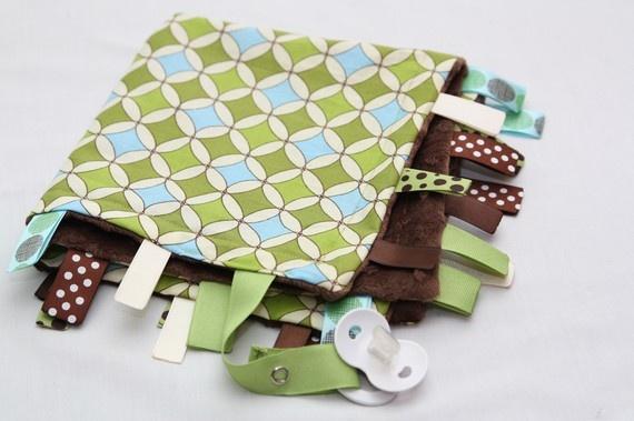 Baby Ribbon Tag Blanket  Minky Binky Blankie  Spring by misslis81, $17.00Blankie Spring, Baby Ribbons, Minky Binky, Blankets Minky, Ribbons Tags, Future Kids, Tags Blankets, Kids Fun, Binky Blankie
