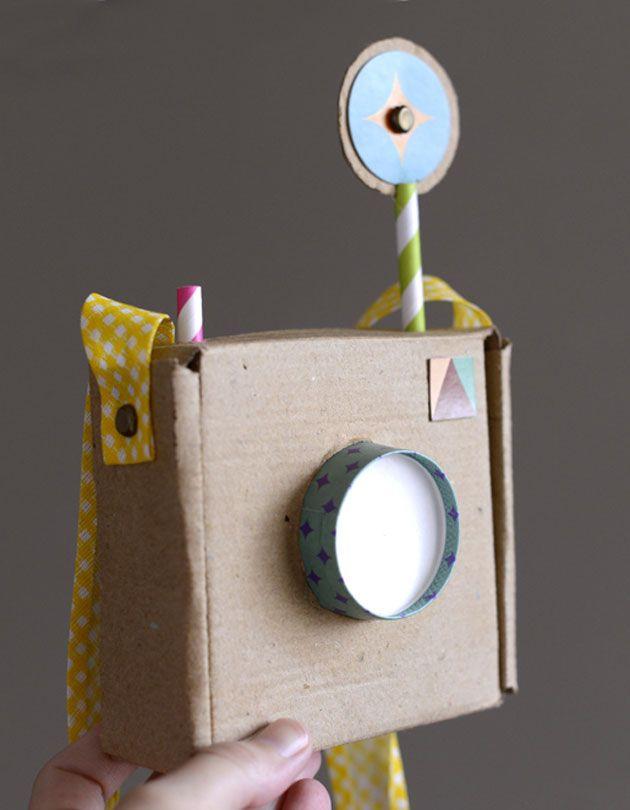 DIY cardboard camera for kids