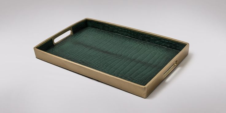 Green and Gold Tray SHF Decor Homeware South Africa