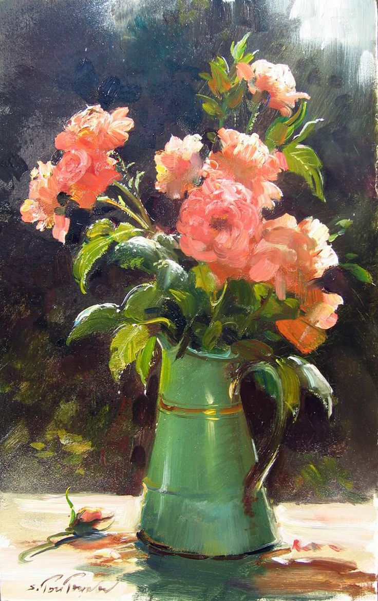 193 best images about Vase of Flowers -Art. on Pinterest