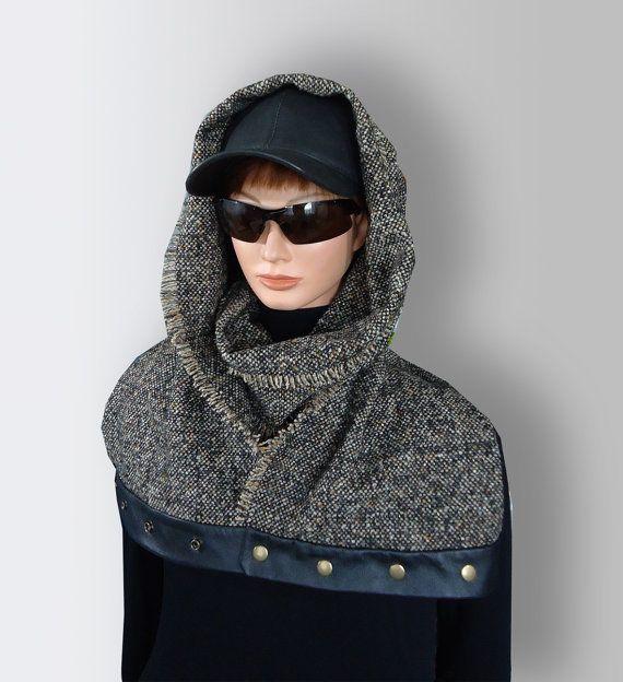 Black Gray Brown Men Women Unisex Warm Wool by JoliefleurDeco