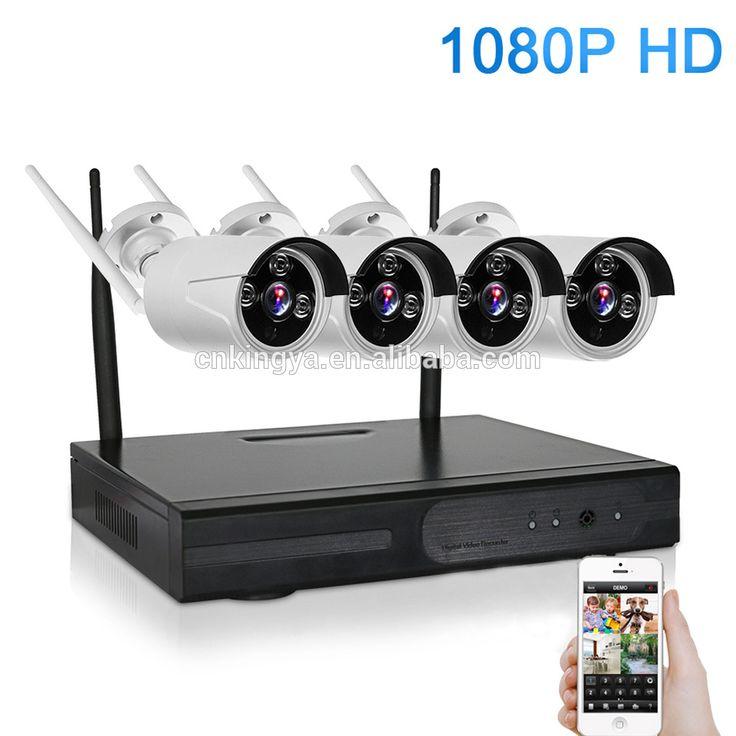 1080P 4CH Wireless NVR CCTV System wifi 2.0MP IR Outdoor Bullet P2P IP Camera Waterproof Security Video Surveillance Kit