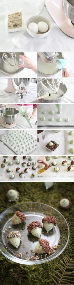 Make the most adorable acorn cookies with this tutorial from Heather Baird on the Etsy Blog. #DIY