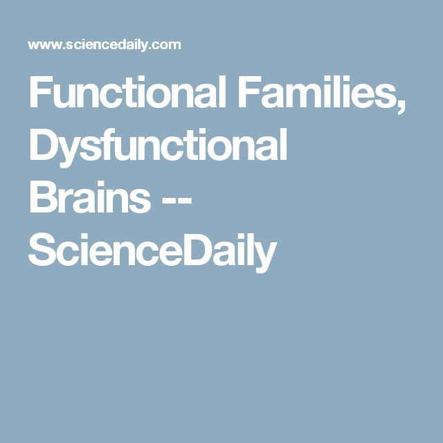functional or dysfunctional families I'll will try to answer the question of what a functional family is, but first it's necessary to define what a family is we may say that a family is a system defined by kindred.