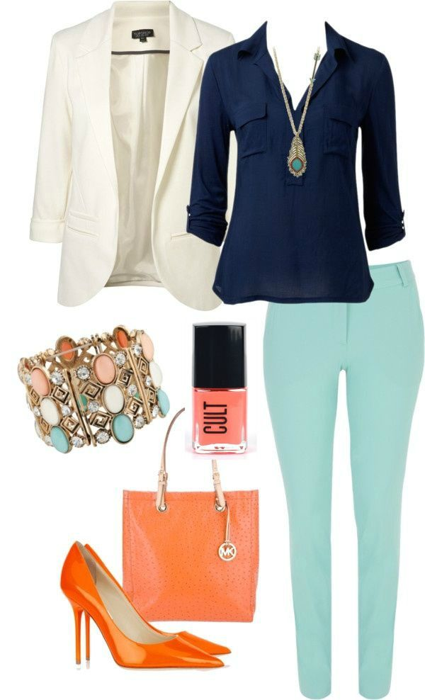 color combo. love the colored pants