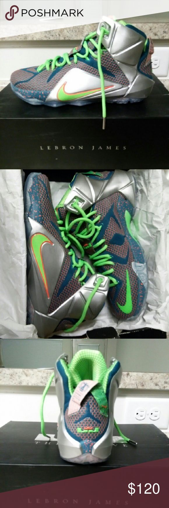 Nike Lebron 12 Only worn once Nike Shoes Sneakers