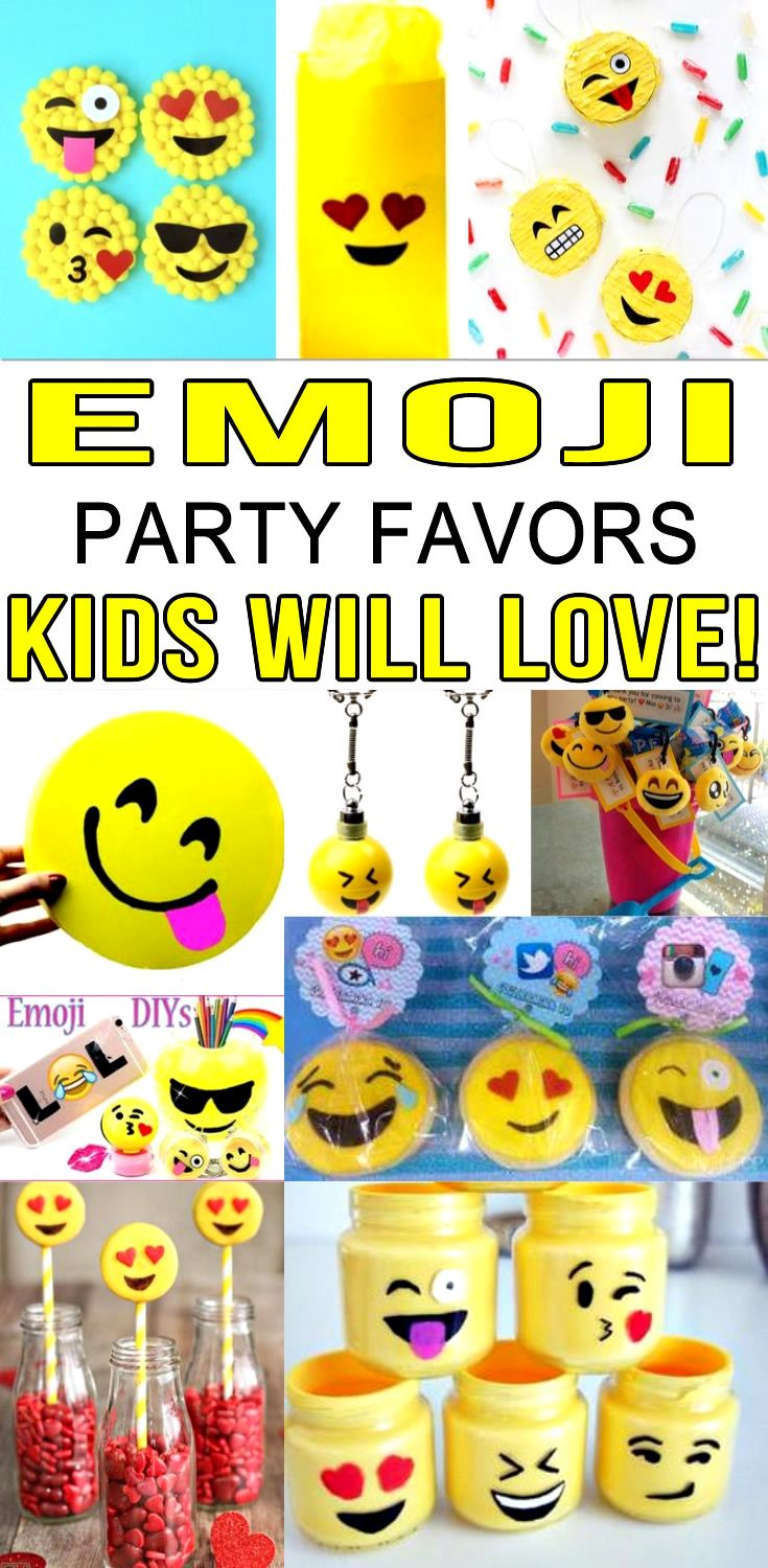 Emoji Birthday Party Ideas Find The Best Favors DIY Craft Projects To Send Home With Kids Girls Boys Will Love These Cool