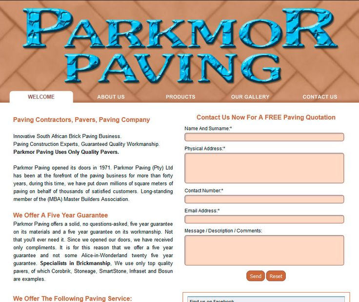 Website Design By DRAGAN GRAFIX - Paving Contractors, Pavers, Paving Company - Parkmor Paving - Innovative South African Brick Paving Business. Paving Construction Experts, Guaranteed Quality Workmanship. Parkmor Paving Uses Only Quality Pavers. http://www.parkmorpaving.co.za