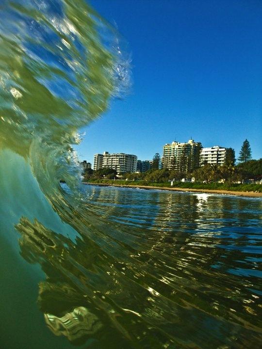 this looks like a typical winter's day at Mooloolaba Beach, Sunshine Coast, Australia