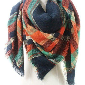 Oversized Plaid Blanket Scarves The only scarves y'all need this fall. Our new 2016 fall colors are unique and fresh to market. Our designers have created unique, yet stylish designs and our merchants have sourced a great buy on these beautiful Oversized Plaid Blanket Scarves.  The plaid color patterns have been selected to provide distinctively different looks, all perfect for fall or winter.