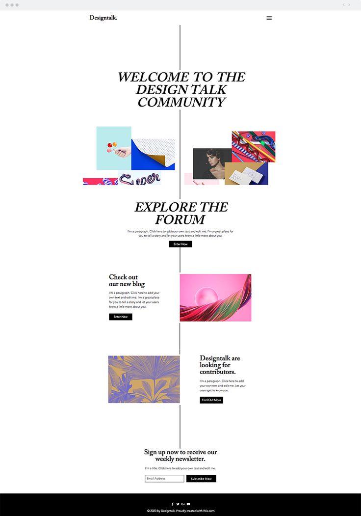 Designer's Forum Website Template