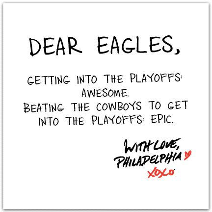 Congrats to the Philadelphia Eagles -- NFC East Champs!