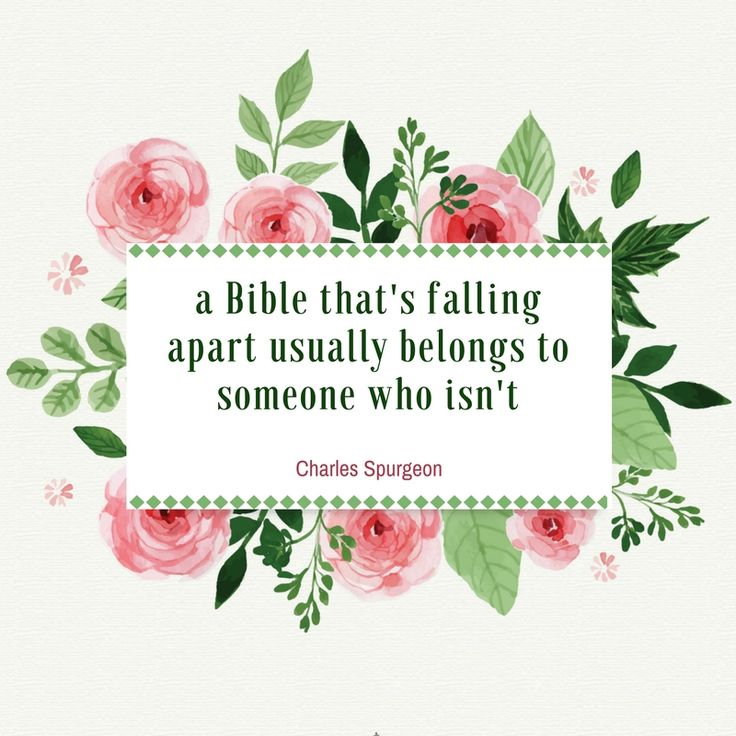 a Bible that's falling apart usually belongs to someone who isn't