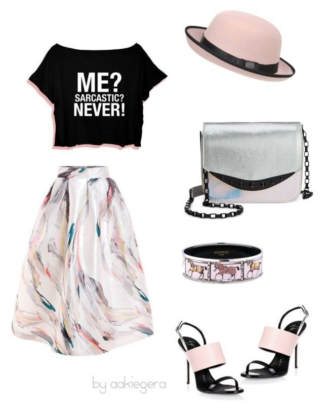 """""""Sarcastic"""" by aakiegera on Polyvore featuring мода, Giuseppe Zanotti, WithChic, Circus By Sam Edelman, Pilot и Hermès"""