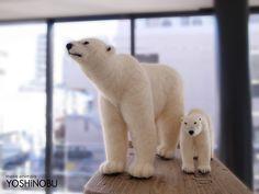 needle felted polar bears - YOSHiNOBU