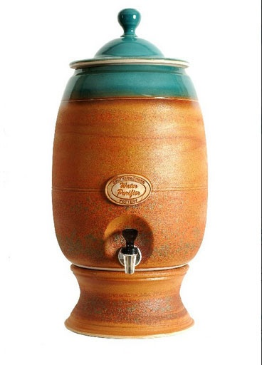 Terracotta water dispenser from Southern Cross pottery