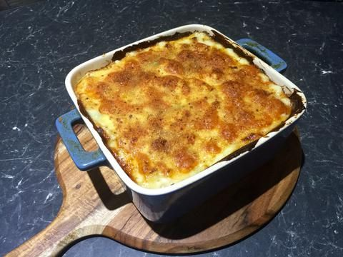 Tuna Vegetable Pasta Bake made in the Bellini Supercook and finished in the oven for a crispy top!