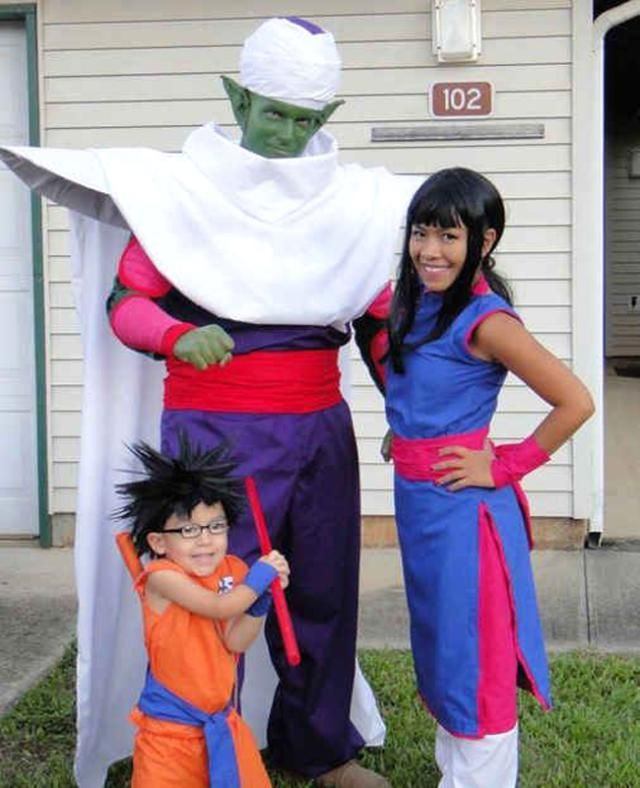 9 Super Cute Kids in Dragon Ball Z Cosplay: Family Cosplaying as Dragon Ball Z's Piccolo, Chichi and Goku