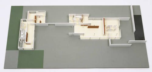 Ludwig Mies van der Rohe, Lilly Reich. Ground-Floor House in The Dwelling in our Time, German Building Exposition, Berlin, Germany. 1931