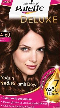 Palette 2017 Saç Renk Kartelası - Palette Altın Kahve Saç Boyası rengi
