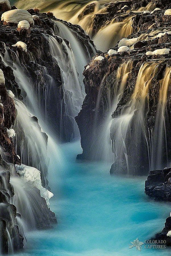 Bruarfoss, Iceland - Explore the World with Travel Nerd Nici, one Country at a Time. http://travelnerdnici.com
