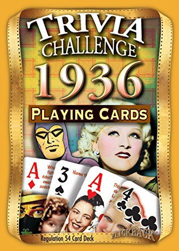 1936 Trivia Playing Cards 80th Birthday or 80th Anniversary Gift Flickback Media, Inc. http://www.amazon.com/dp/B019HVAC5K/ref=cm_sw_r_pi_dp_GQn5wb0AY04WV